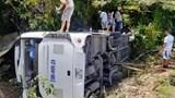 Khởi tố vụ xe khách bị lật trong vườn quốc gia Phong Nha - Kẻ Bàng: Tài xế có nồng độ cồn