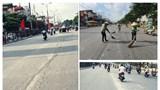Đề nghị trích xuất camera truy tìm phương tiện để rơi vãi vật liệu xây dựng trên đường Giải Phóng