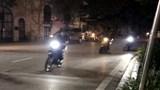 Công an quận Hai Bà Trưng bắt nhóm đi xe máy lạng lách, đánh võng qua nhiều tuyến phố