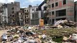 Rác thải tràn lan tại tuyến đường Đại La - Minh Khai