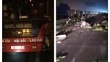 Va chạm xe khách khiến thanh niên điều khiển xe máy tử vong trên cao tốc Nội Bài - Lào Cai