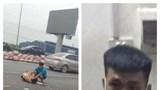 Trung úy cảnh sát giao thông bị tông gãy chân