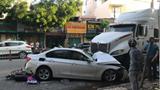 Tai nạn giao thông mới nhất hôm nay 22/9: Xe container tông ô tô BMW