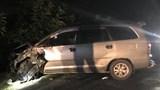 Ô tô Toyota Innova tông 4 xe máy, 9 người bị thương