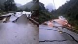 Cấm đường lên cửa khẩu Cha Lo do Quốc lộ 12 sạt lở nghiêm trọng