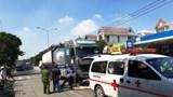 Bị xe bồn kéo lê hàng chục mét, tài xế xe máy tử vong thương tâm