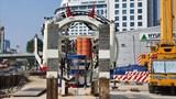 Lắp đặt máy đào hầm TBM đầu tiên tuyến metro đoạn Nhổn - Ga Hà Nội
