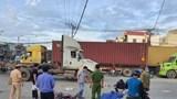 Tài xế container tông chết người rồi bỏ chạy