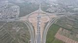 Toàn cảnh nút giao Vành đai 3 với cao tốc Hà Nội - Hải Phòng