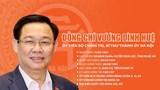 Tóm tắt quá trình công tác của Bí thư Thành ủy Hà Nội Vương Đình Huệ