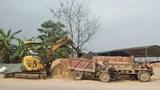 Bãi tập kết vật liệu xây dựng trên tỉnh lộ 419 ở xã Cộng Hòa, huyện Quốc Oai: Cần xử lý triệt để