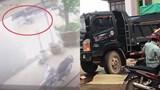 [Clip] Không làm chủ tốc độ, nam thanh niên đi xe máy suýt chết dưới bánh xe tải