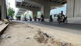 Tuyến đường Hồ Tùng Mậu - Xuân Thủy: Hư hỏng, chắp vá, mất an toàn giao thông