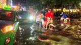 Hà Nội: Nhiều tuyến đường ngập úng sau mưa lớn