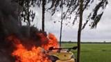 Hải Dương: Xe ô tô bị thiêu rụi, tài xế nhập viện cấp cứu