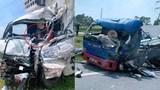 Hai xe tải đấu đầu, tài xế chết thảm trong cabin