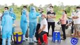 Lấy mẫu xét nghiệm SARS-CoV-2 cho toàn bộ công nhân dự án Trung Lương - Mỹ Thuận
