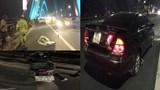 Mải thay lốp xe tài xế ô tô bị xe máy tông tử vong trên cầu Nhật Tân
