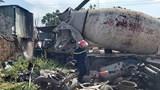 Đà Nẵng: Cháy xe cẩu trong bãi để xe phế liệu