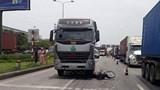Hải Dương: Xe container va chạm mô tô, một người tử vong tại chỗ