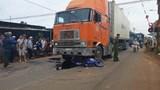 Trung úy bộ đội tử vong sau va chạm với xe container