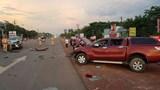 """""""Xế hộp"""" đấu đầu tại Bình Phước, 3 người bị thương nặng"""
