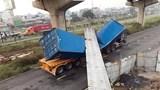 Xe container kéo sập dầm cầu bộ hành: Sẽ xử lý nghiêm các sai phạm