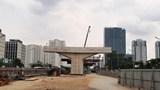 Lộ rõ 'hình hài' dự án xây dựng cầu cạn Mai Dịch-Nam Thăng Long