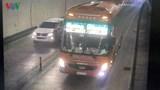 Tài xế xe khách vượt ẩu trong hầm Hải Vân bị tước giấy phép lái xe