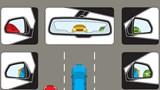 """Cách sử dụng gương chiếu hậu ô tô tránh """"điểm mù"""" cho lái mới"""
