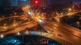 [Ảnh] Công nhân xuyên đêm sửa khe co giãn trên cầu Vĩnh Tuy