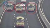 Triệu tập 3 tài xế điều khiển xe khách dàn hàng ngang trên cao tốc Hà Nội - Hải Phòng