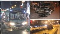 """Hà Nội liên tiếp tai nạn tối 22/4: Ô tô """"điên"""" đâm liên hoàn, xe tải cán chết người"""