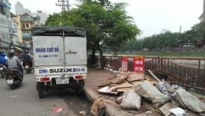 Quận Thanh Xuân: Nhếch nhác phố Kim Giang đoạn thuộc phường Đại Kim