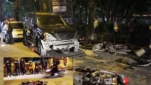 Hà Nội: Xế hộp hạng sang đâm liên hoàn trên phố, nhiều người bị thương
