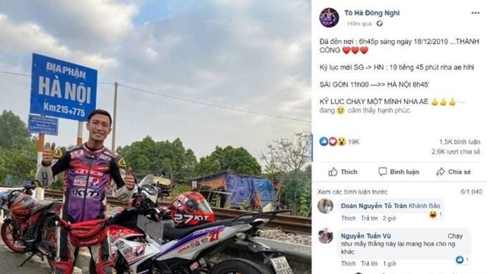 """Vụ phượt thủ xuyên Việt chỉ hết 19 giờ: """"Nổ"""" để câu """"like"""" hay coi thường tính mạng?"""