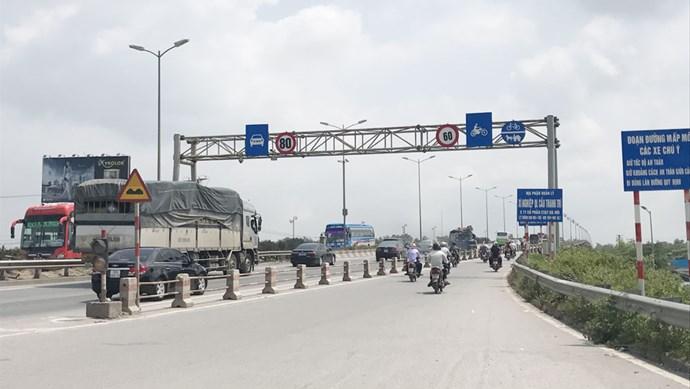 Đề xuất tổ chức lại giao thông trên cầu Thanh Trì
