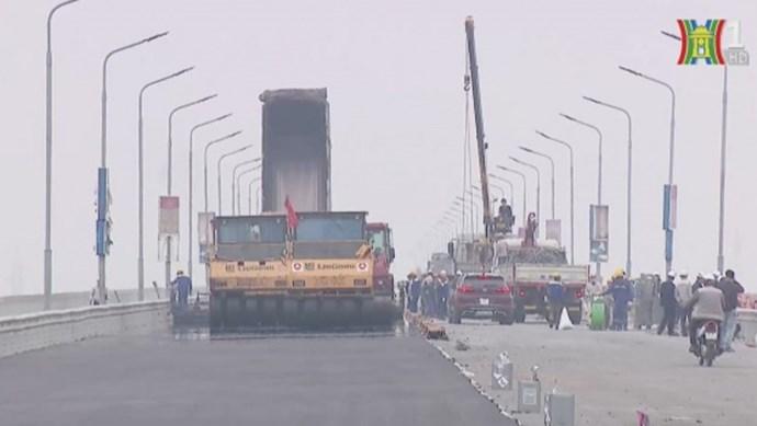 Cầu Thăng Long sẽ thông xe ngày 8/1/2021