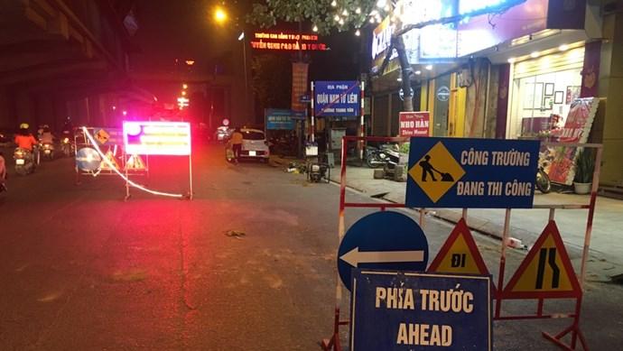 Đường Nguyễn Trãi được sửa chữa và thảm lại từ đêm 7/11