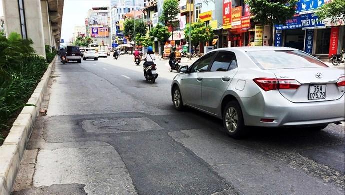 Quận Hà Đông: Phân luồng giao thông phục vụ cải tạo, sửa chữa đường Trần Phú