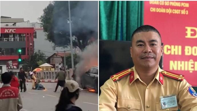 Lời kể của CGST lao vào gầm xe Mercedes cháy cứu người