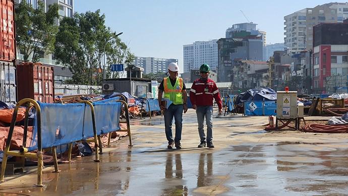 Giám đốc an toàn Paul Evens: Công trường đường sắt Nhổn - Ga Hà Nội không gây ô nhiễm bụi và tiếng ồn