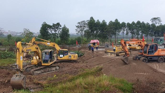 Khởi công dự án nút giao đường Vành đai 3 với cao tốc Hà Nội - Hải Phòng  