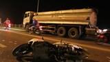Tai nạn trên cầu Vĩnh Tuy, người đàn ông tử vong dưới bánh xe bồn
