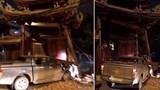 Xác định danh tính tài xế say rượu tông sập cổng chùa ở Hà Đông