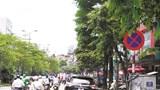 Dù đã cắm biển cấm dừng đỗ, ô tô vẫn nhờn luật trên phố Đào Tấn