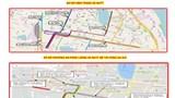 Phát tờ rơi thông tin về phương án rào chắn, tổ chức giao thông quanh ga Hà Nội