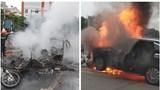 Ô tô Mercedes cháy dữ dội sau tai nạn: Danh tính nạn nhân, nữ tài xế khai đạp nhầm chân ga