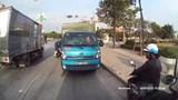 Xử phạt tài xế xe tải đi ngược chiều trên Quốc lộ 18