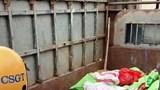 Phát hiện xe tải chở nội tạng động vật hôi thối trên tuyến Đại lộ Thăng Long